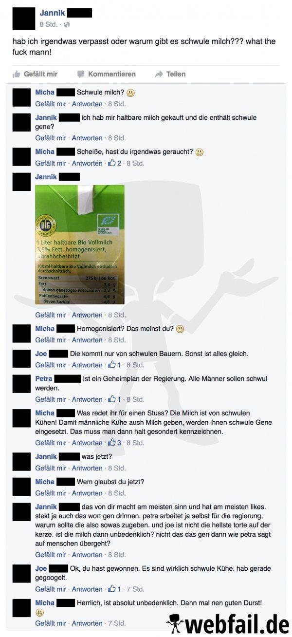 Eine ganz besondere Milch - Facebook Fail des Tages 30.05.2016 | Webfail - Fail Bilder und Fail Videos
