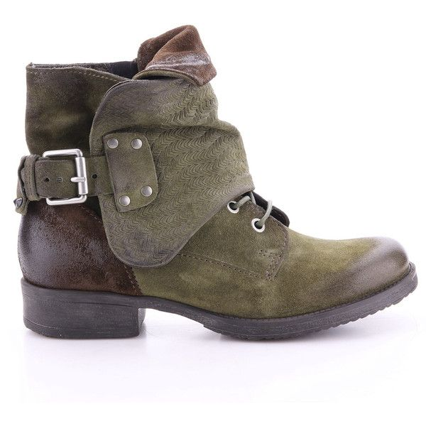 Miz Mooz Women's Tamika Boots (€200) ❤ liked on Polyvore featuring shoes, boots, army, miz mooz footwear, leather upper boots, miz mooz, leather upper shoes and buckle shoes