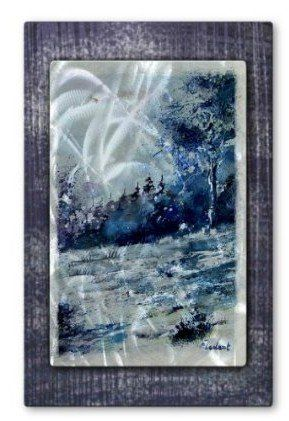 Blue Forest By Pol Ledent Painted Steel Wall Art By All My