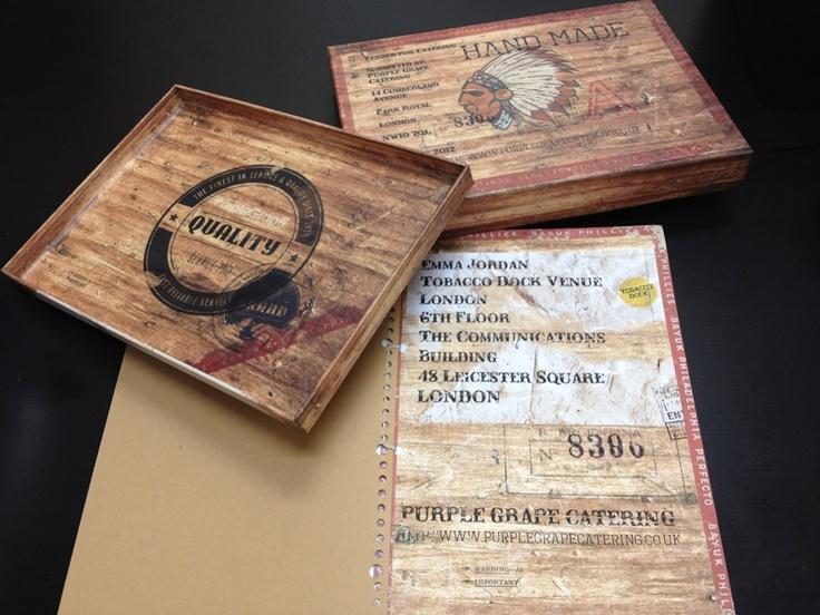 sixredsquares box and document design for Purple Grape Tobacco Docks tender.