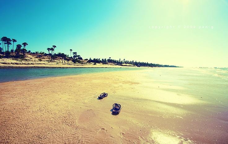 Slopeng Beach Madura Sumenep Indonesia
