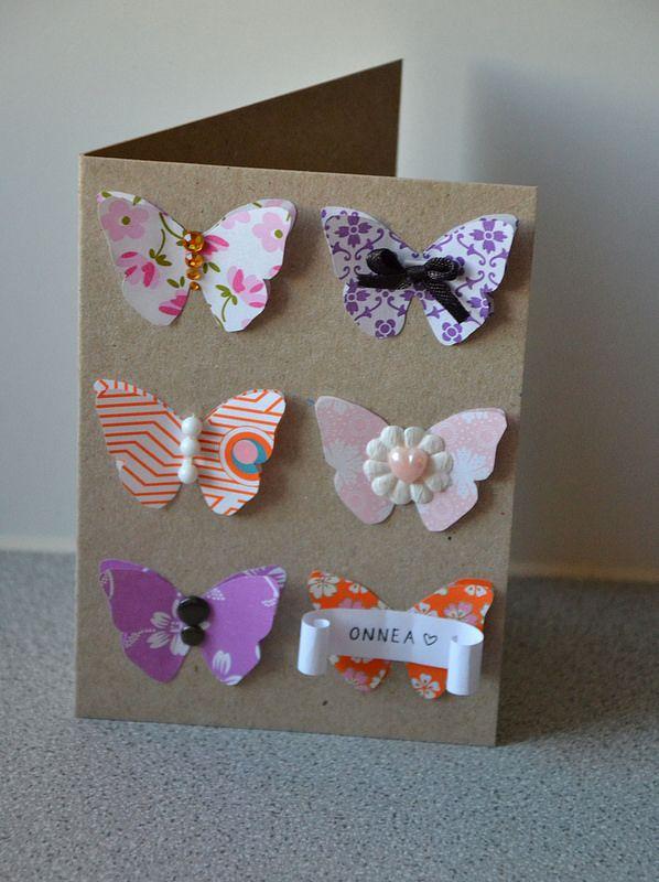 Butterfly birthday card by Lankatarina.
