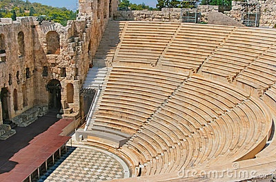 Odeon of Herodes Atticus in Acropolis, Greece by Aleksandrs Kosarevs, via Dreamstime