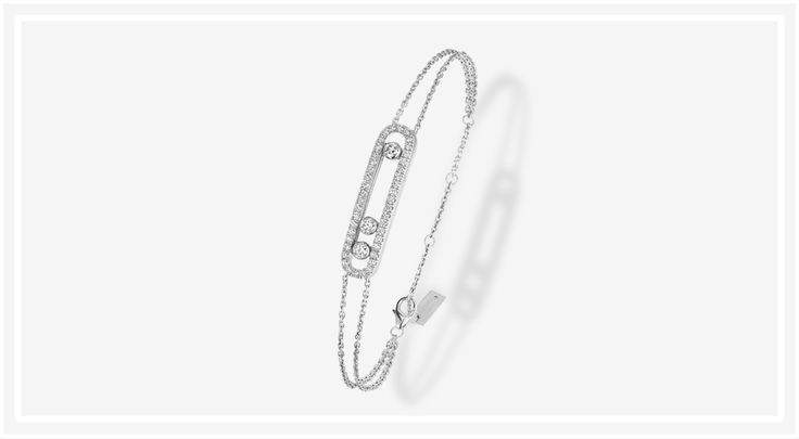 Messika - Move pavé diamond bracelet in white gold.