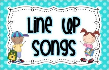What a fun way to get your class lined up quickly and quietly! This compilation of 24 Songs and Chants makes lining up fun and easy. They come on 6 bright multi-colored polka dot backgrounds. Print out the cards and clip them together on a binder ring for easy use. Choose a card or have the line leader choose a card each time your class lines up.