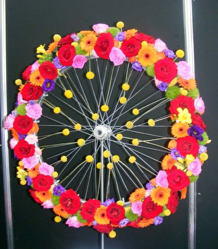 reclaimed bicycle wheel bloom festival dublin ireland