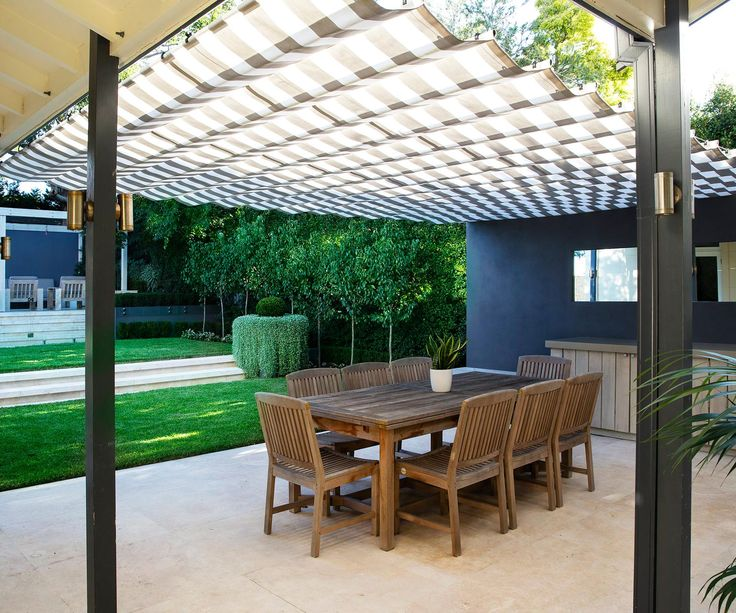 See how a landscape designer divided a large Sydney garden into usable zones including a swimming pool, lawn and outdoor dining area.