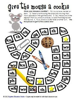 GREAT, FREE digraph board games. Plus, a link to initial consonant AND initial consonant blends games as well....also FREE.