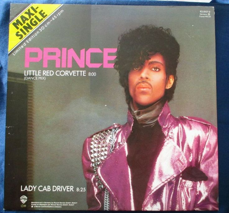 "Prince Little Red Corvette Dance Mix ltd. ed. 12"" MAXI-SINGLE NM vinyl 1982 DJ"