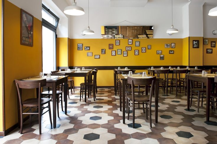 Tripe restaurant in Milan, old school restaurant interior design vintage15