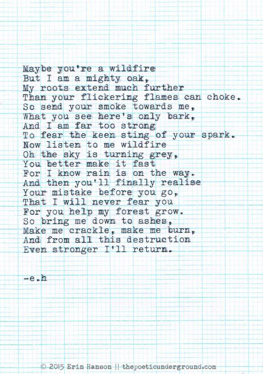 Wildfire. thepoeticunderground.com #poem #poetry