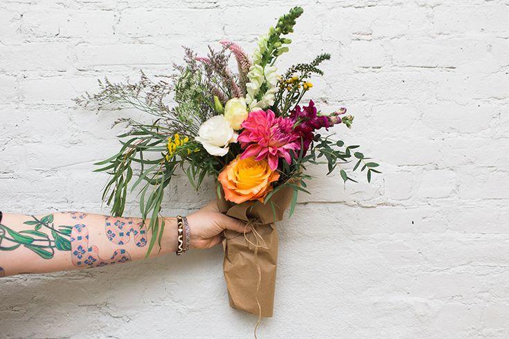 Hand tied bouquet - Stems Brooklyn