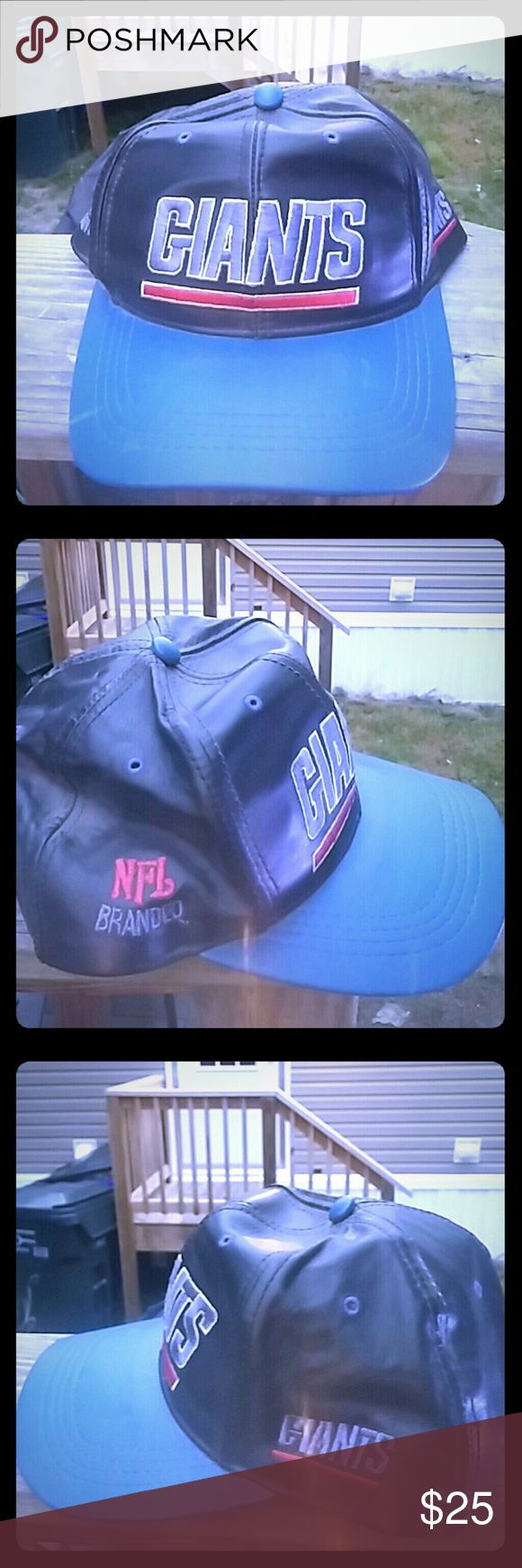NY Giants Classic Leather Branded Cap One SZ Accessories Hats