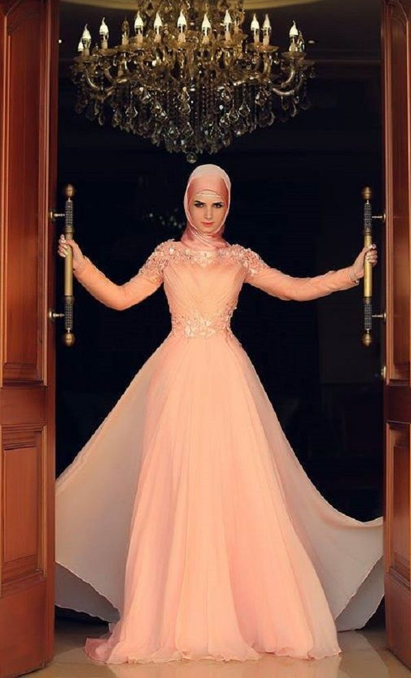 Fancy Party Wear Formal Hijabs with Abaya Collection 2016-2017 (26)