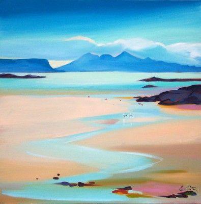 Scottish Artist Pam CARTER-Stream to Rum