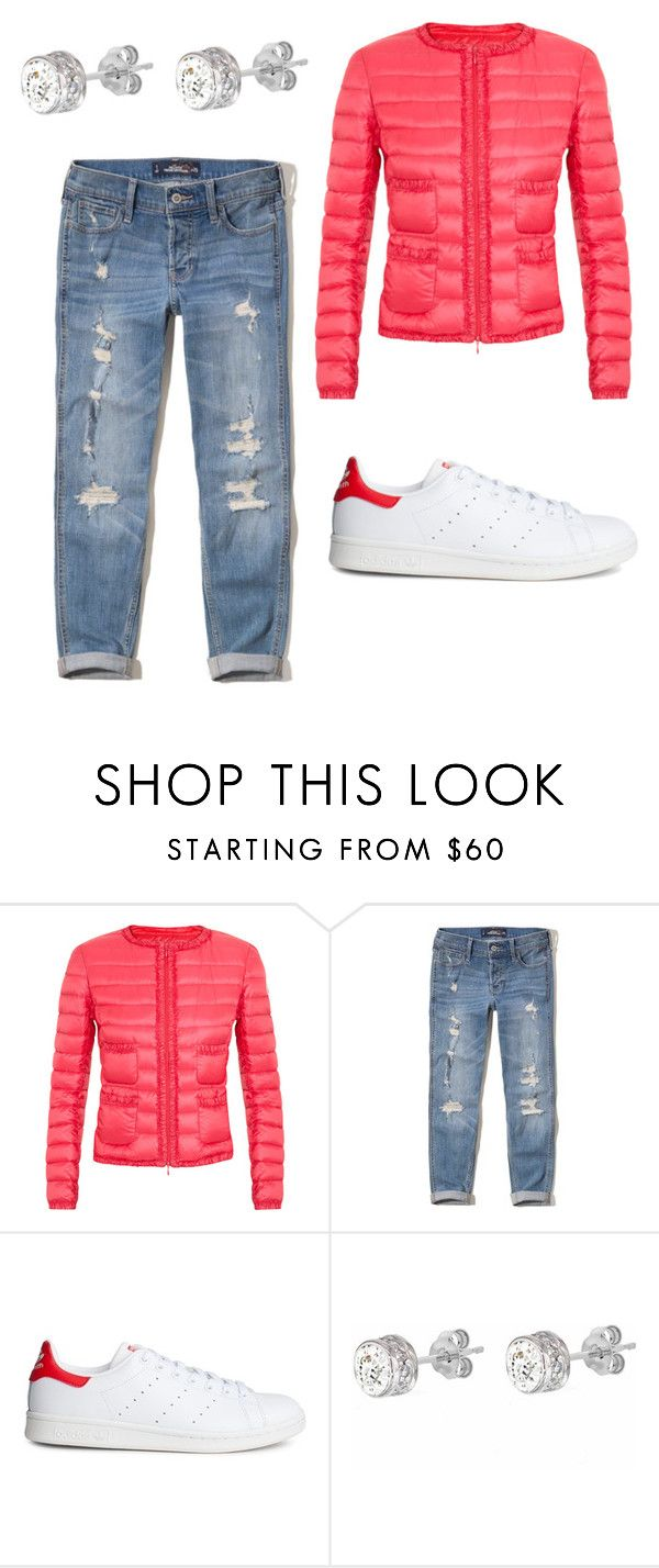 """Untitled #43"" by leenap on Polyvore featuring Moncler, Hollister Co., adidas and IBB"