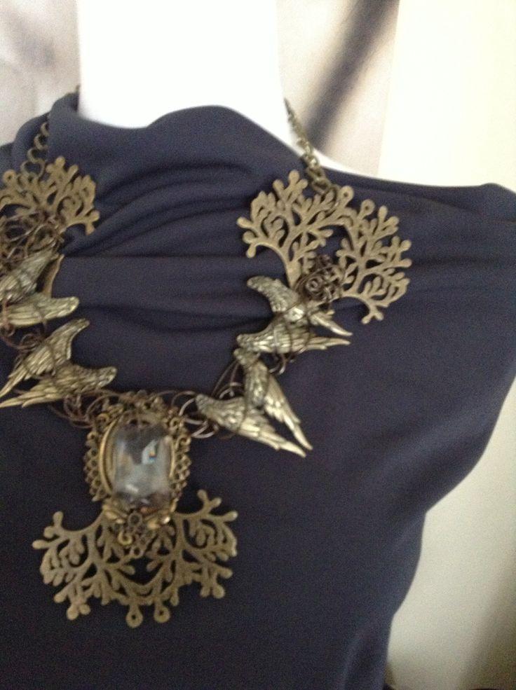 Brass necklace made by Belle Boutique. www.belleboutique.ca