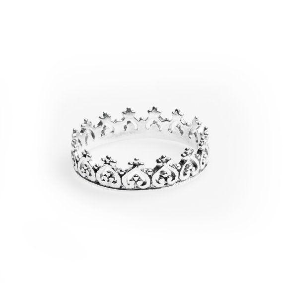 Anello corona argento 925 Boho anello anello di BohoLake su Etsy