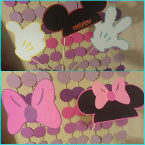 Photo Booth Props Mickey And Minnie Mickey And Friends Cricut