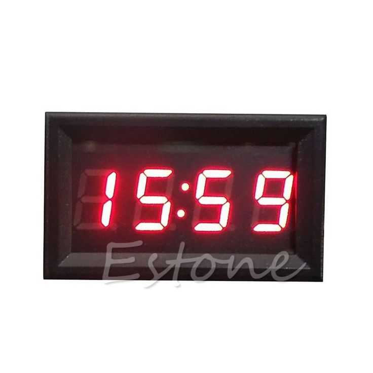 Hot Sale LED Display Digital Clock 12V/24V Dashboard Car Motorcycle Accessory 1PC ** Find similar products by clicking the VISIT button
