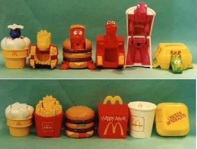 McDonald's Transformer Toys