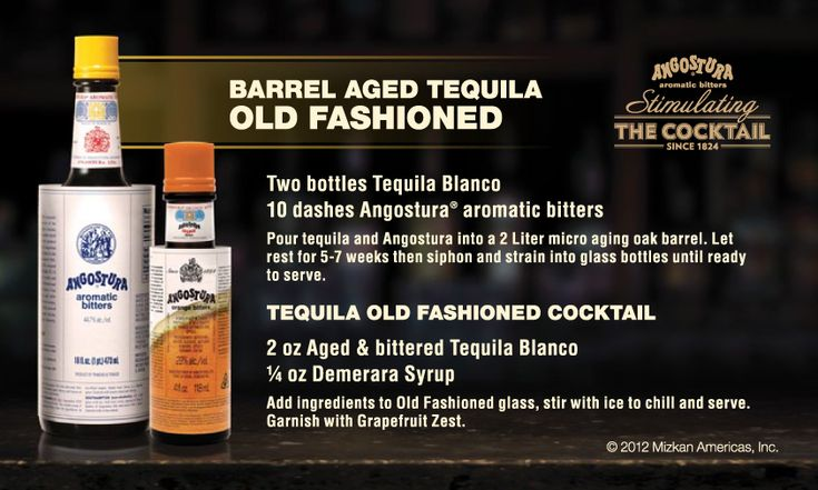Barrel Aged Tequila Old Fashioned