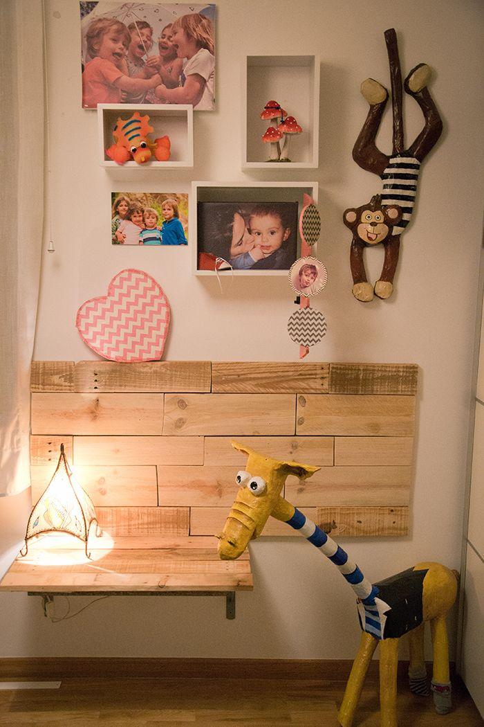 Diy como hacer una mesa escritorio infantil de palets diy projects pinterest mesas for Escritorio infantil