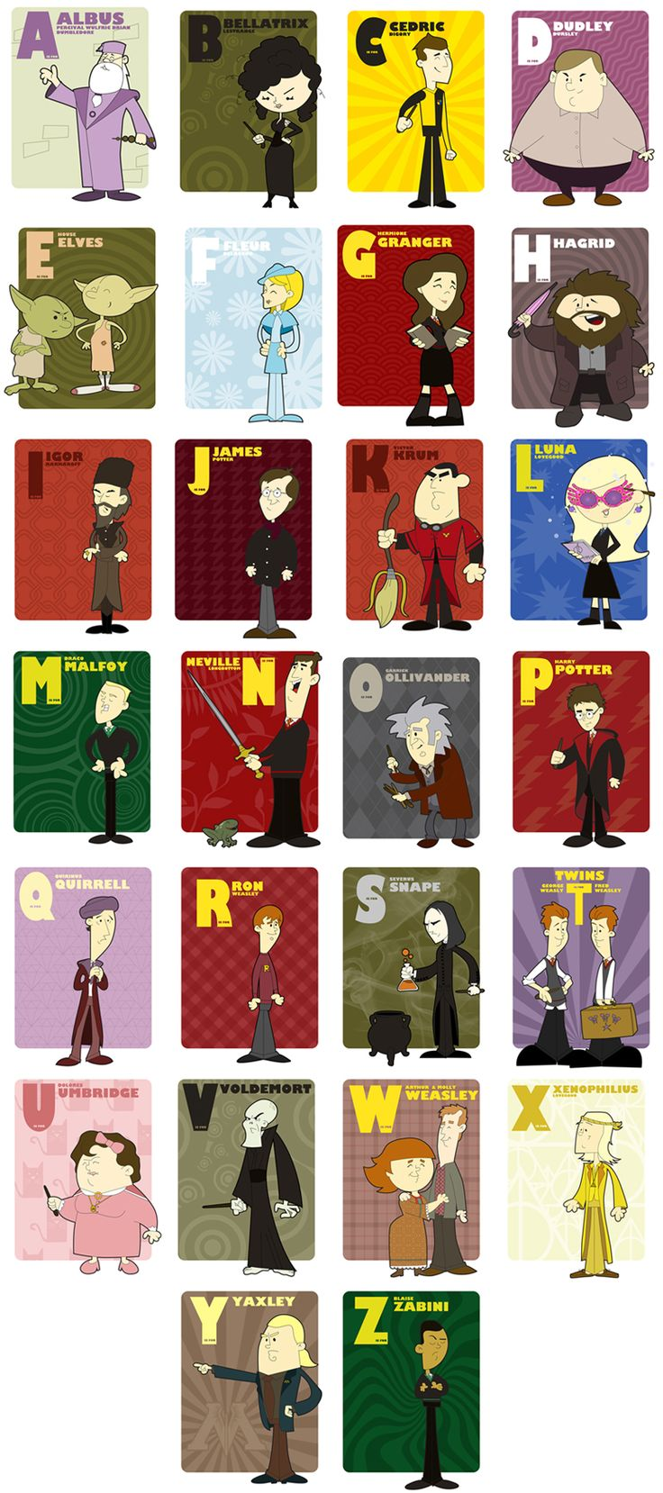harry potter alphabet series.
