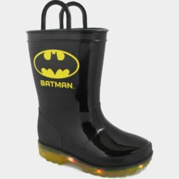 Batman Light-Up Toddler Boys' Rain Boots