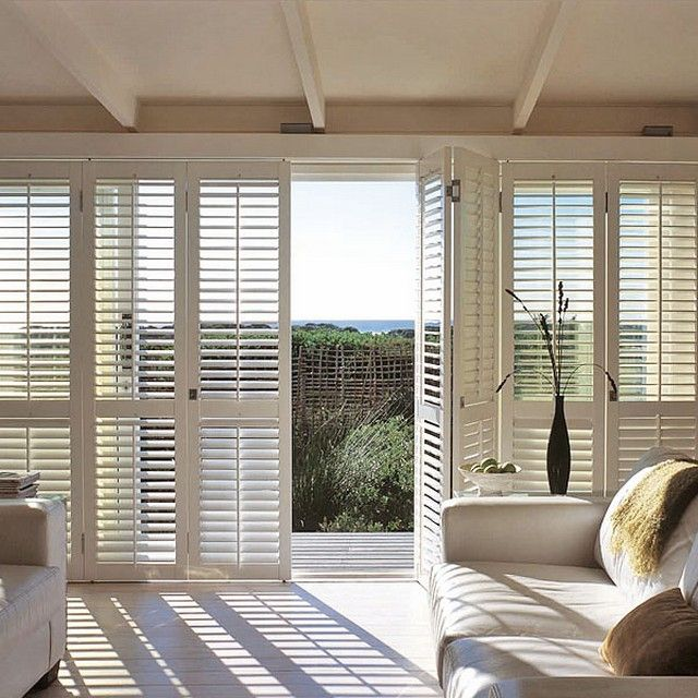 Plantation shutters for sliding glass doors lowes interior barn doors in 2019 sliding glass for Bifold interior window shutters
