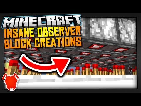 5 INSANE OBSERVER BLOCK CREATIONS in MINECRAFT 1.11 - YouTube