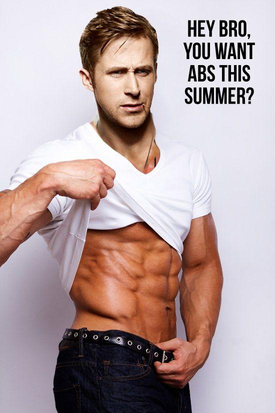 Ryan Gosling Shirtless Abs workout & eating plan