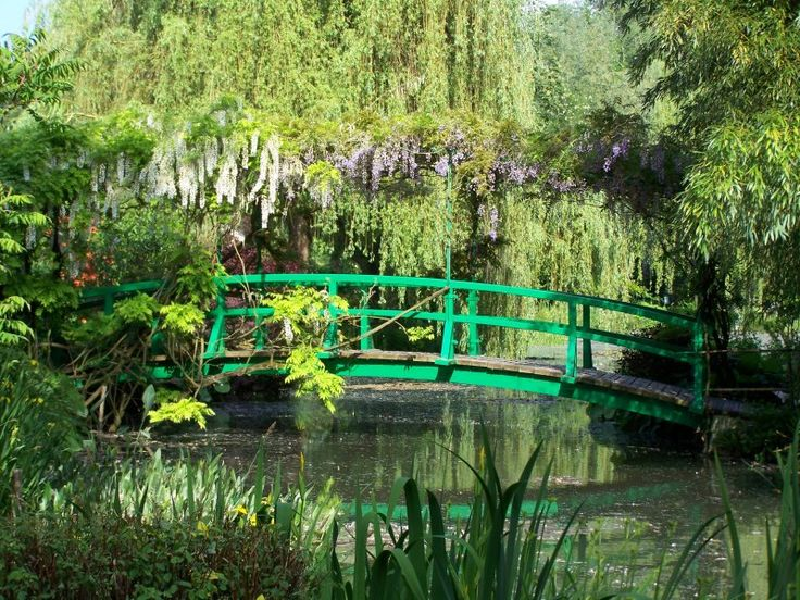 Monet's Garden, Normandy, France. In April 1883 moved Claude Monet, one of our greatest impressionists