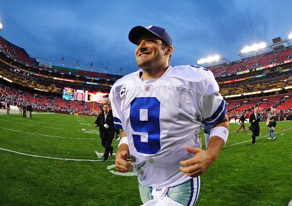 Tony Romo Photos Photos - Tony Romo #9 of the Dallas Cowboys heads off the field after the game against the Washington Redskins at FedEx Field on November 20, 2011 in Landover, Maryland. - Dallas Cowboys v Washington Redskins