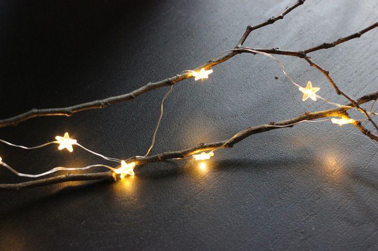 Fairy lights and branches DIY  Shop at www.aprilandthebear.com/ Read the DIY blog at www.aprilandthebear.com/blog