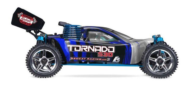 Redcat Racing Tornado S30 1/10 Scale Nitro Buggy 2.4GHz- BLUE / SILVER