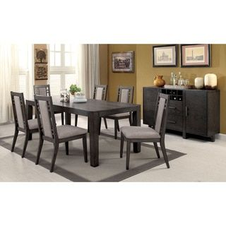 Shop For Furniture Of America Basson Rustic Grey Expandable Dining Table Get Free Shipping At