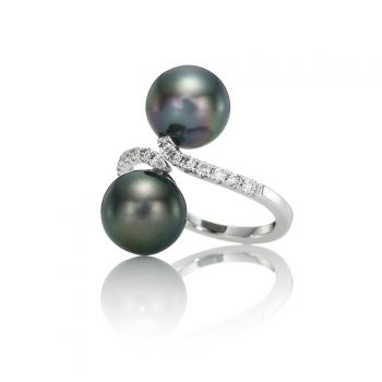 South Sea Pearl & Diamond Gold Ring