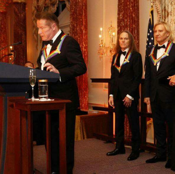 Don Henley at The Kennedy Center Honors artist dinner in DC 2016 dedicated the evening to Glenn.