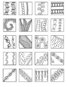 easy zentangle pattern ideas