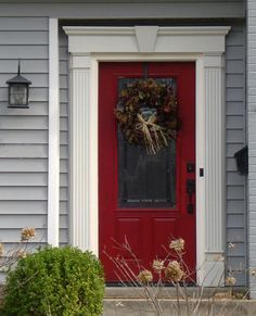 Some great reds are:  'Real Red' by Sherwin Williams  'Hunting Coat Red' by Ralph Lauren  'Accent Red' by Porter Paints  'Heritage Red' by Benjamin Moore