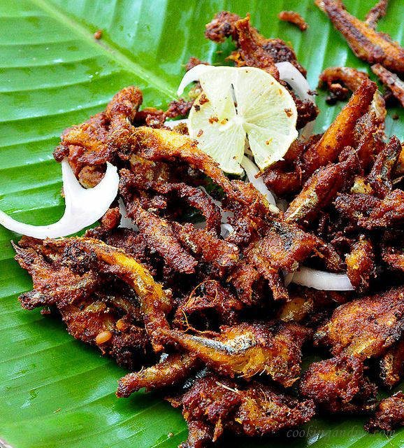 Anchovy fish fry kerala style
