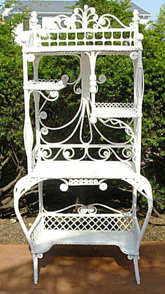 Heywood Bros Victorian Wicker Etagare. Twig FurnitureVictorian FurnitureAntique  FurnitureWhite ...