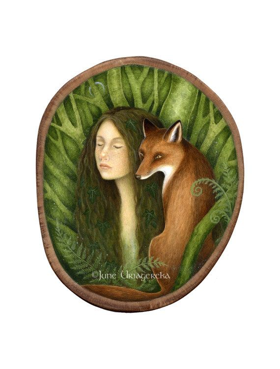 Kindred Spirits  Mini Print by JuneUriagereka on Etsy