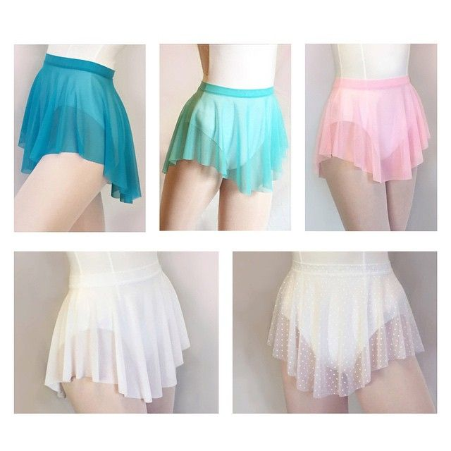 Royall Dancewear--Be sure to pick up some of our fun and bright lightweight mesh SAB skirts for summer dance classes! Pictured: Peacock, Aquamarine, Pink, White, and White Swiss Dot.  Which is your favorite? Let us know!⬇️