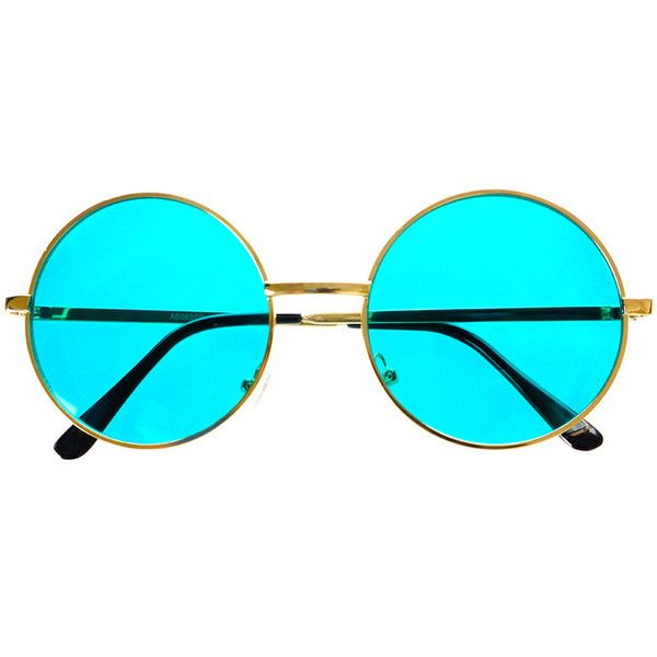 Indie Hippie Retro Vintage Style Colorful Metal Round Sunglasses R2510 ($19) ❤ liked on Polyvore featuring accessories, eyewear, sunglasses, vintage style sunglasses, circular sunglasses, metal-frame sunglasses, hippie glasses and metal sunglasses