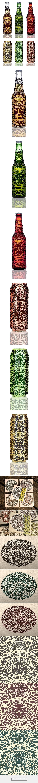 Bandidos, beer labels on Behance via Natasza Salanska   #packaging #design