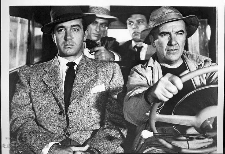 Lee Van Cleef, Neville Brand, Preston Foster, and John Payne in Kansas City Confidential (1952)