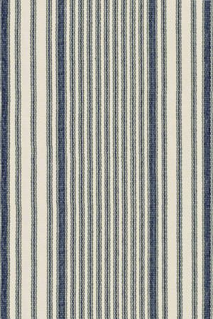 Mattress Ticking Woven Cotton Rug  - Blue and White Stripe - Dash & Albert Rug Company