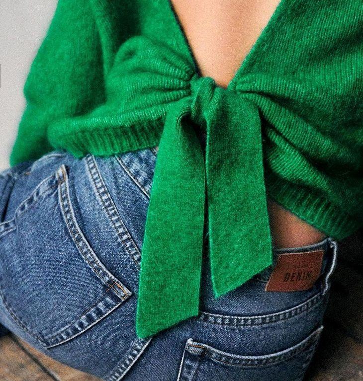 Knitting Pattern femmes dos nu dentelle design Pull à Manches Longues Pull Rowan